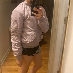 H&M Bomber Jacket in Lilac Purple